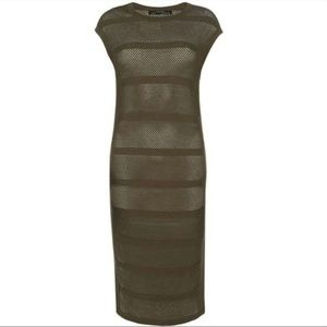 All Saints Band Dress in olive